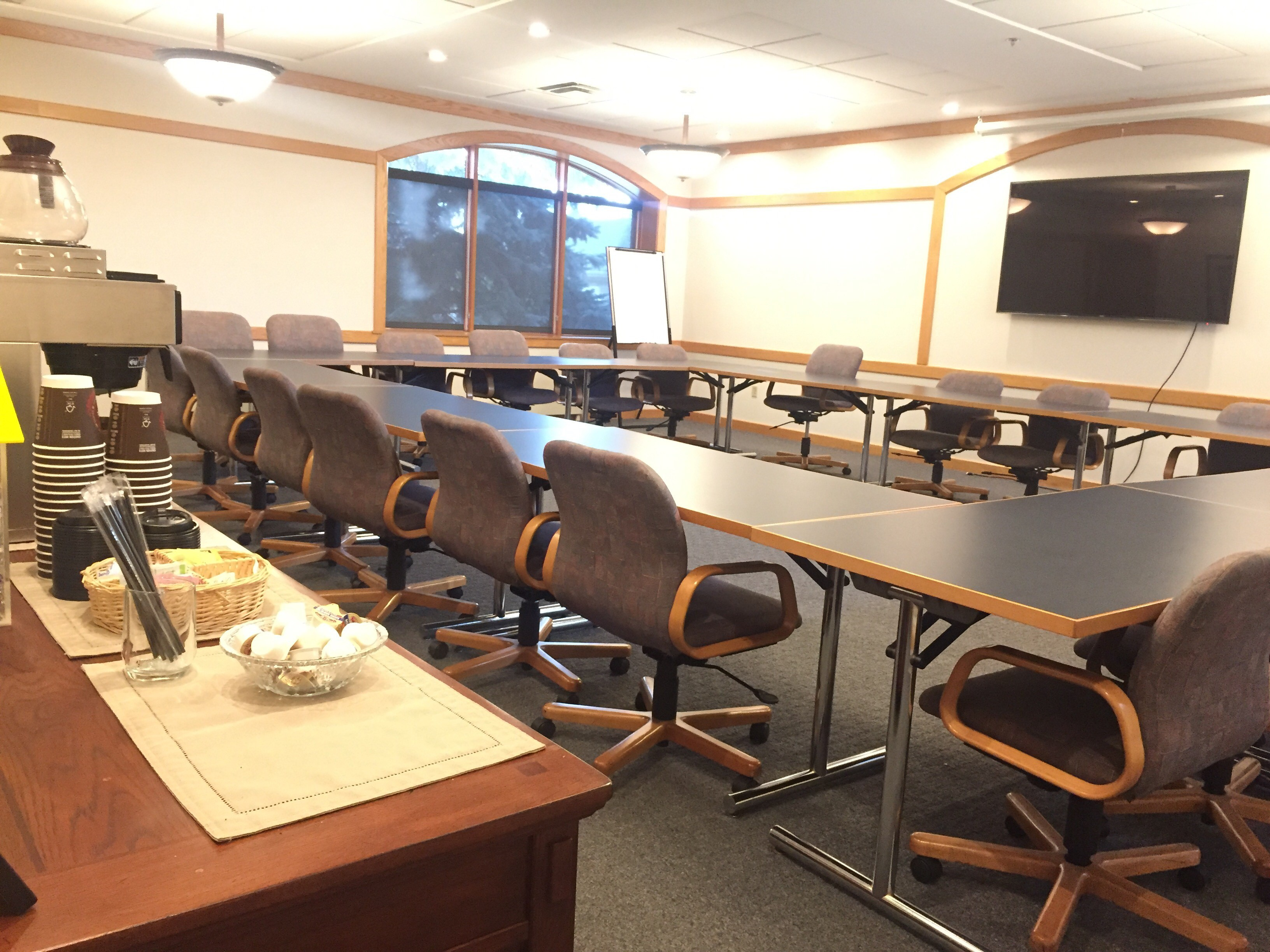 Doty Community Room, conference table & chairs