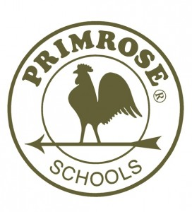 Primrose Schools Logo with rooster on arrow