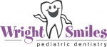 Wright Smiles pediatric dentistry logo with smiling tooth