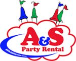 A&S Party Rental Logo with cloud and castle
