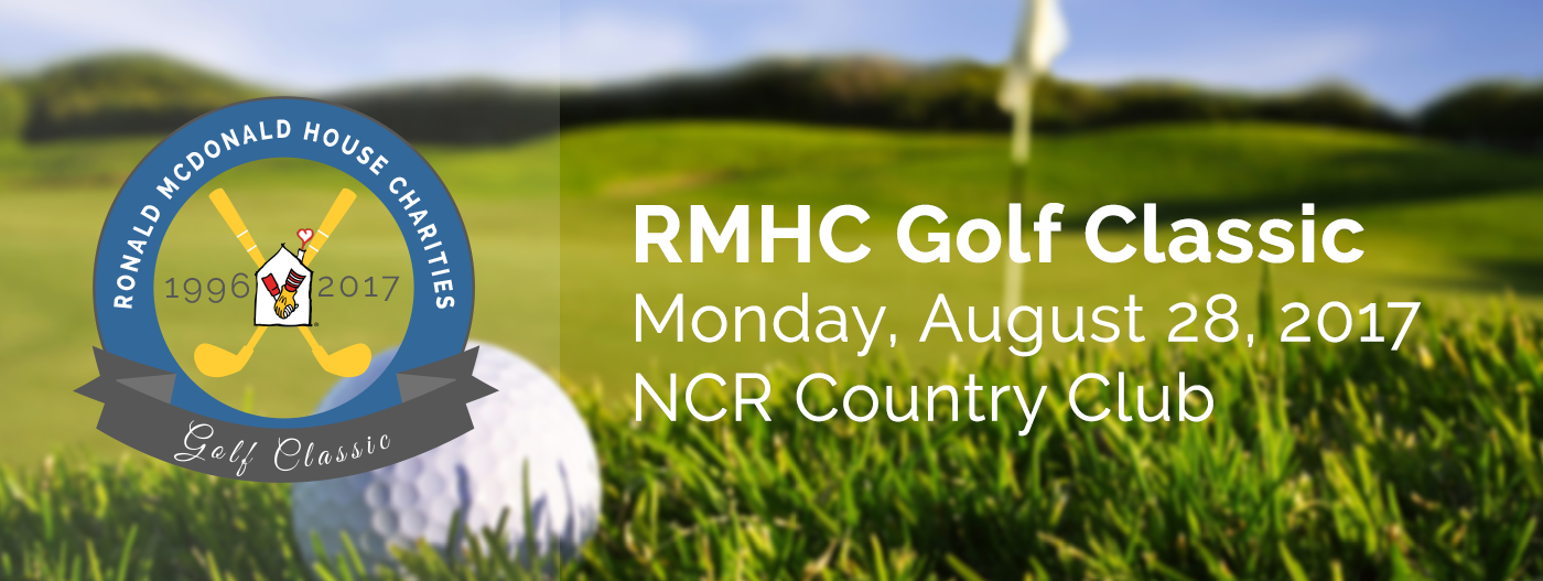 """RMHC Golf Classic, Monday August 28, 2017 at NCR Country Club"" and logo"