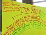 Poster with facts about pull tabs