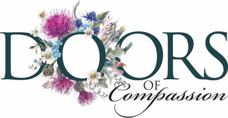 Doors of Compassion logo with flowers
