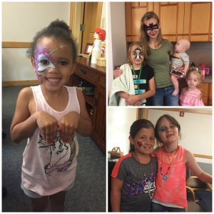 RMHC Dayton guest families with faces painted